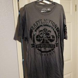 Affliction grey t-shirt XL